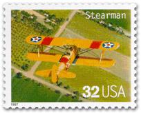 US-Postal Briefmarke: Stearman US32