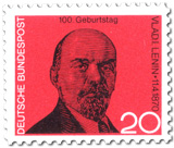W. I. Lenin Briefmarke 1970 (Fälschung!)