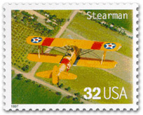 US-Postal Briefmarke: Stearman US32