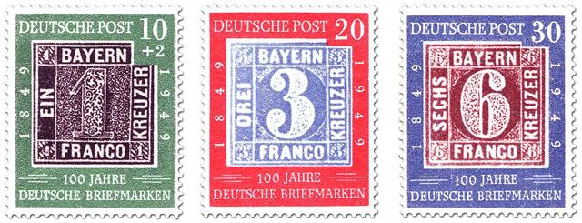 """Briefmarken-Serie """"100 Jahre deutsche Briefmarken"""""""
